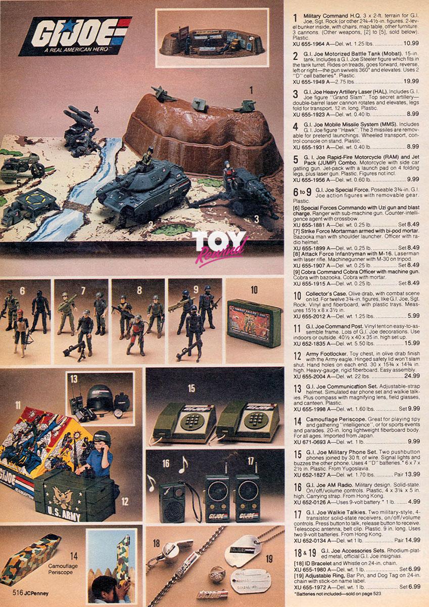 G I  Joe Toy Catalogs 1982 - 1991 - ToyRewind
