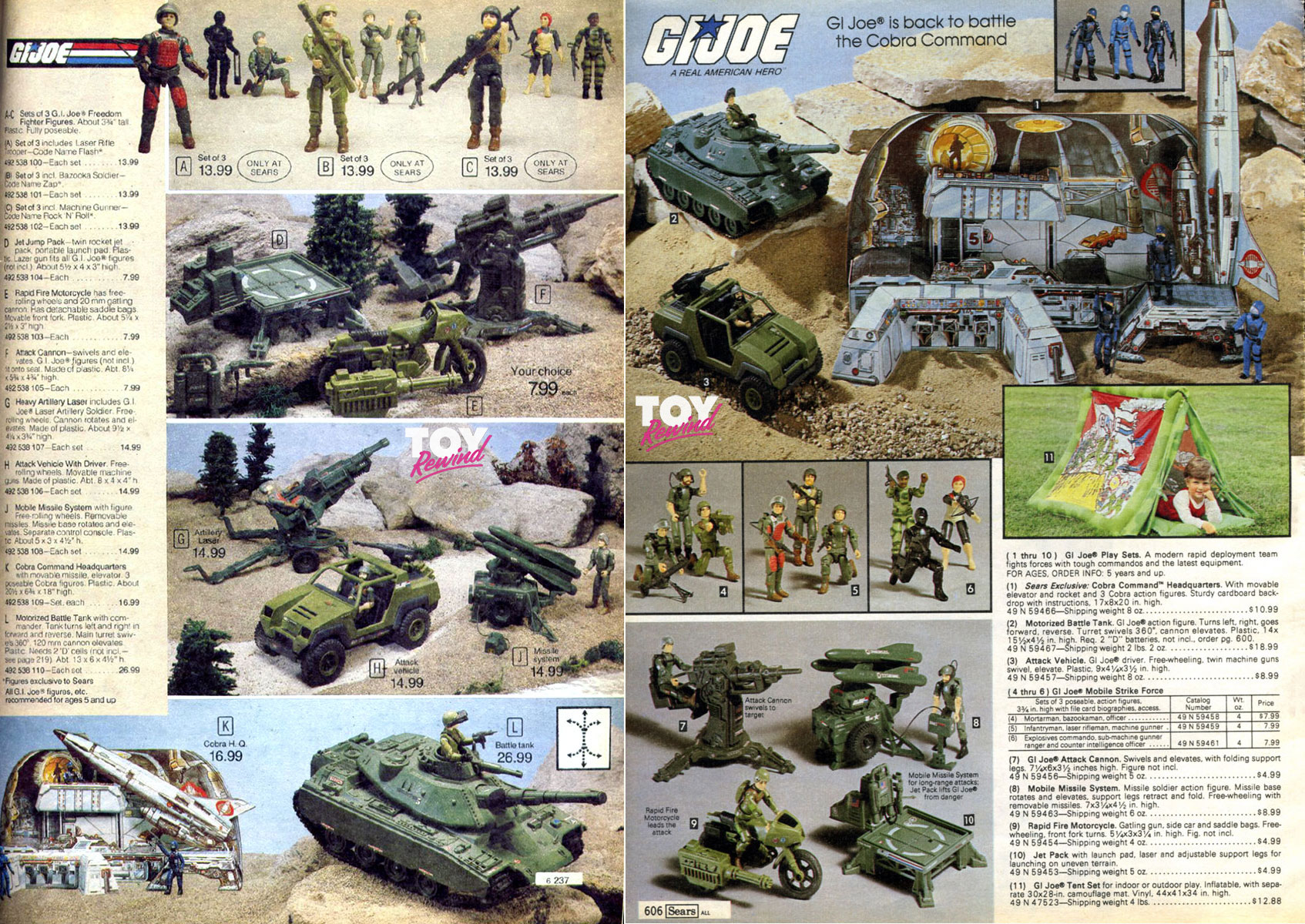 G I  Joe Toy Catalogs 1982 - 1991 - ToyRewind