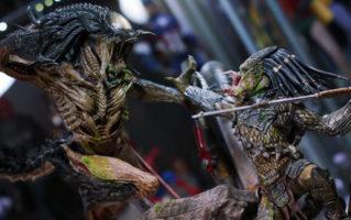 Hot Toys AVPR Predalien VS Wolf Predator Diorama Unboxing