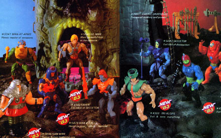 Masters of the Universe 1982 – 1989 Toy Catalogs